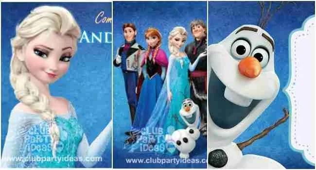 frozen birthday invitations free