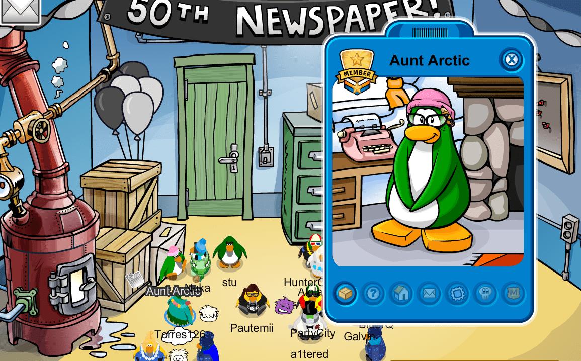 CP Rewritten Aunt Arctic Visits 200218 Club Penguin