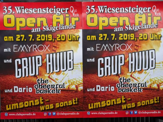 35. Wiesensteiger Open Air, Club Quo Vadis, Emyrox, Grup Huub, Dario