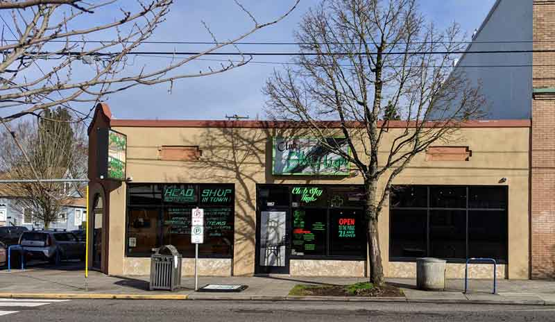 Club Sky High, a cannabis dispensary in North Portland
