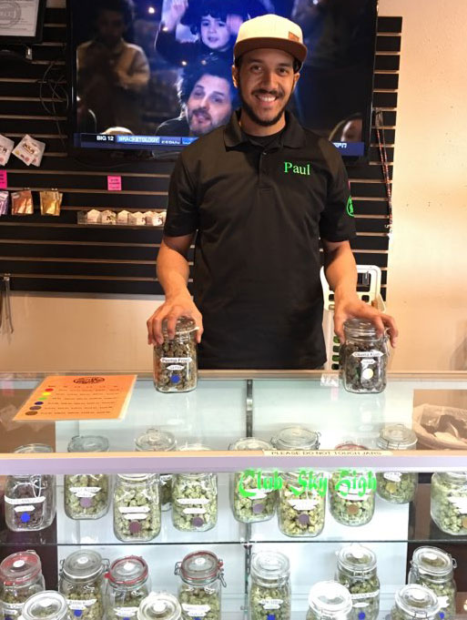 Knowledgable staff at Club Sky High, cannabis dispensary in North Portland