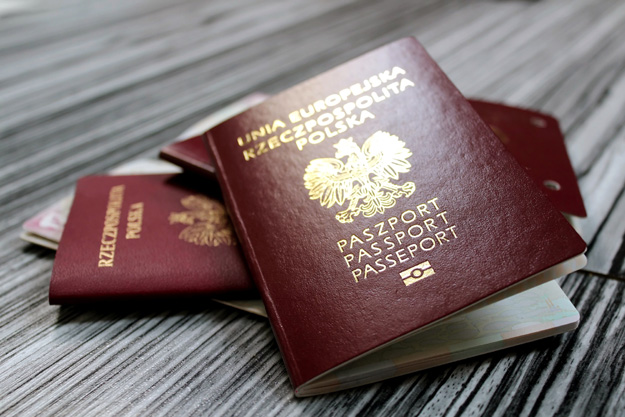 europe passports on elegant background