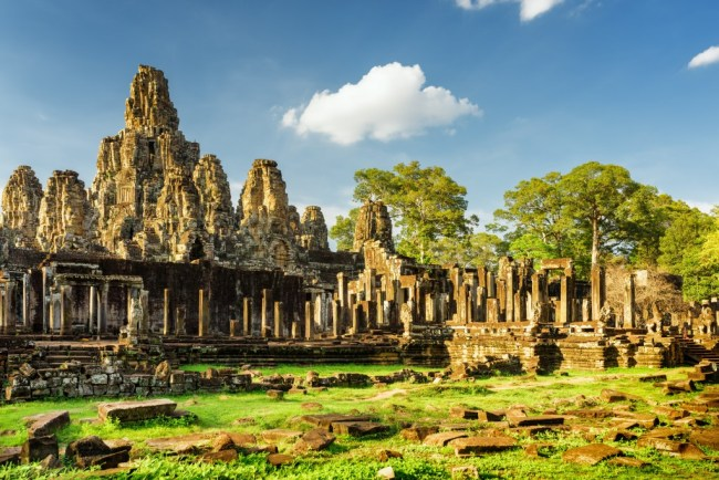 Cheap places to travel - Bayon Temple Cambodia