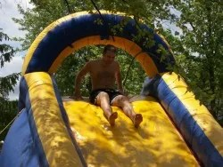 If going down a giant water slide in your front yard isn't white trash, I don't know what is.
