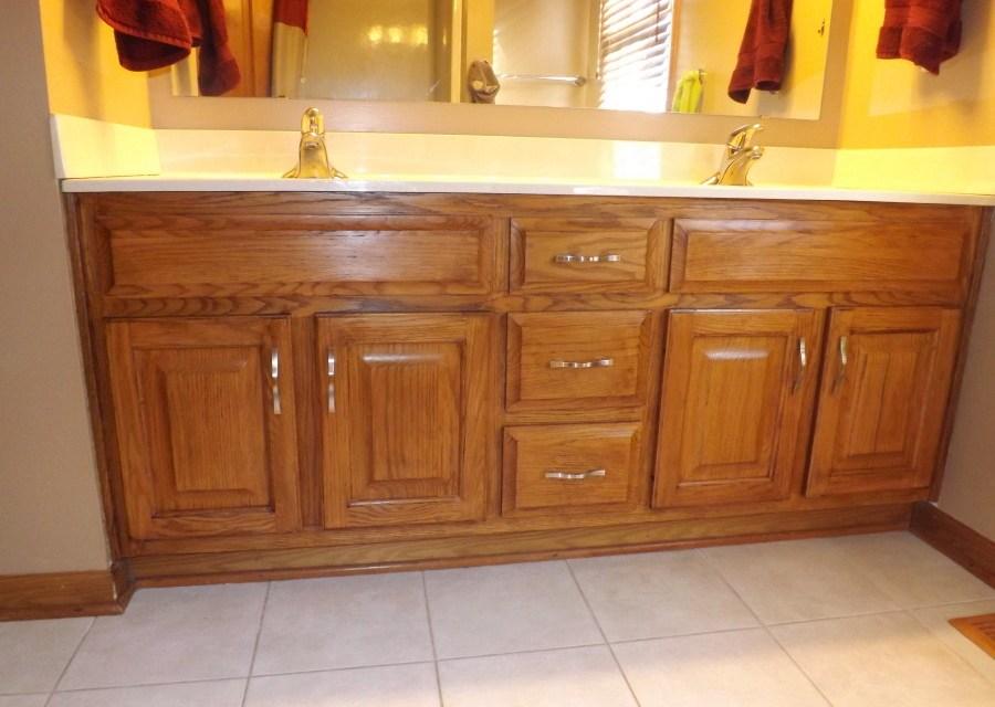 Remodel Bathroom Cabinets my frugal bathroom cabinet remodel   club thrifty