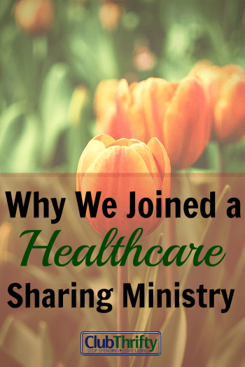 For the first time in our lives, we'll be without traditional health insurance. We've decided to join a healthcare sharing ministry instead. Here's why.