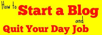Start a Blog Sidebar