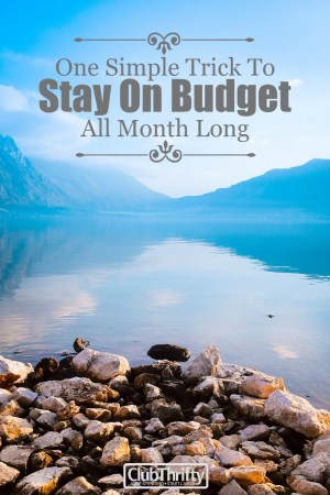 Even the best budgeters have a mishap from time to time. Learn the simple trick that helps us stay on budget each and every month!