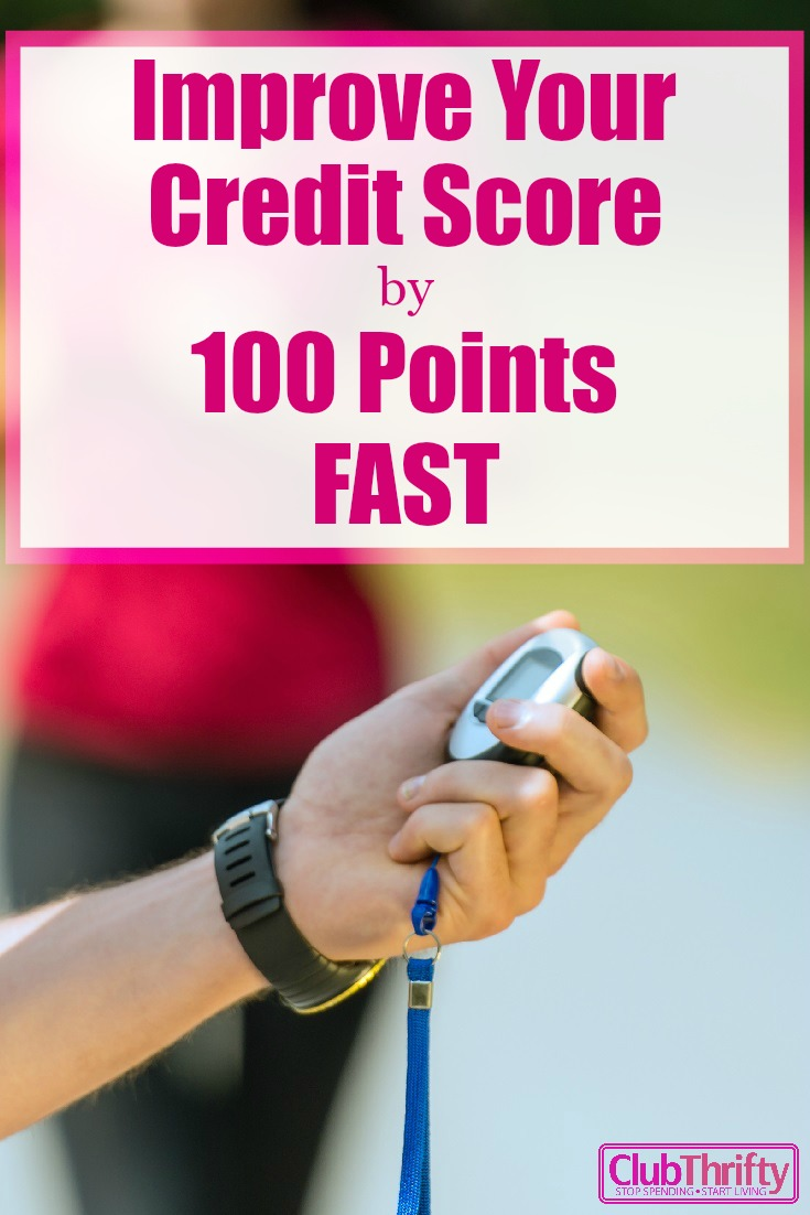 5 Steps To Improve Your Credit Score By 100 Points Club Thrifty How To  Build Credit