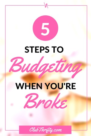 Budgeting when you're broke is tricky, but it's not impossible. If you're constantly falling behind, use these 5 budgeting tips to get back on the track!
