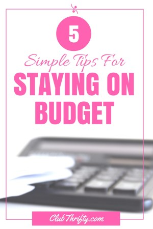 Staying on budget can be tough, even for the most seasoned budgeter. Don't get discouraged! Use these simple tips to stay on budget and get ahead.