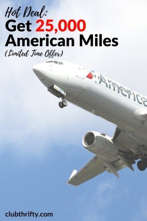 Do you love points and miles? Want to fly for free? Learn how to earn up o 25,000 American AAdvantage miles through this limited time offer.