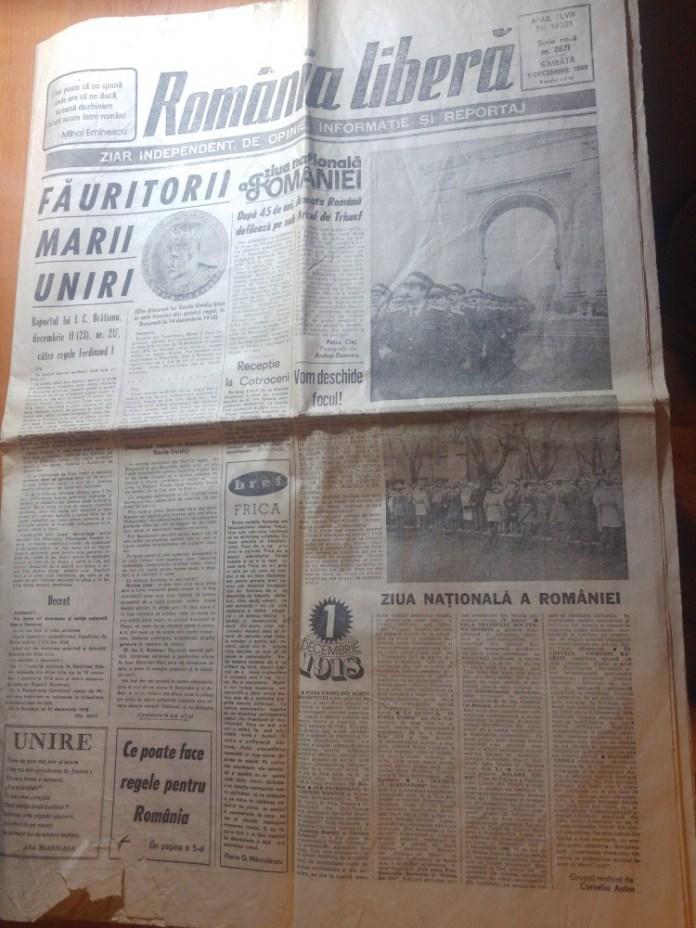 Romania Libera 1 Decembrie 1989