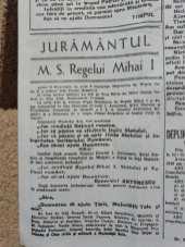 Timpul 8 Septembrie 1940 - Abdicarea Regelui Carol Al 2 -lea Juramantul Regelui Mihai 2
