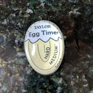 Taylor egg timer after heating