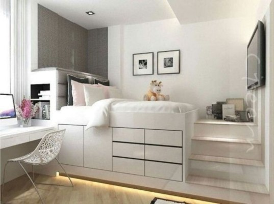 Delicate Tiny Bedroom Decor Ideas For Teens06