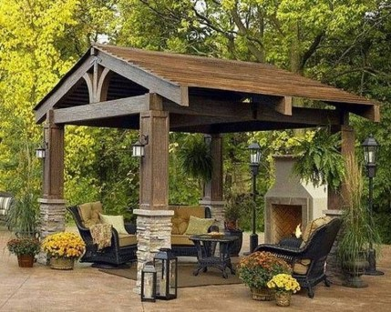 Gorgeous Backyard Gazebo Design Ideas You Must Have35