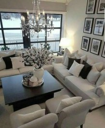 Adorable Black Living Room Ideas That Looks Cool07