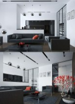 Adorable Black Living Room Ideas That Looks Cool11