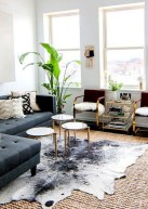 Adorable Black Living Room Ideas That Looks Cool16