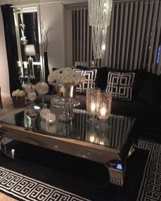 Adorable Black Living Room Ideas That Looks Cool19