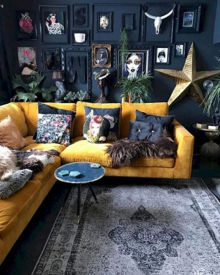 Adorable Black Living Room Ideas That Looks Cool21