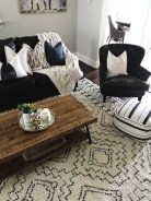 Adorable Black Living Room Ideas That Looks Cool31