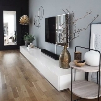 Adorable Black Living Room Ideas That Looks Cool33