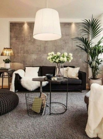 Adorable Black Living Room Ideas That Looks Cool41