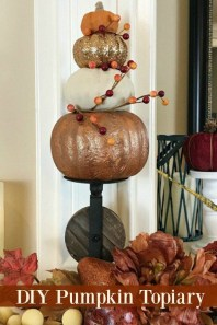 Excellent Diy Fall Pumpkin Topiary Ideas For Home Décor02