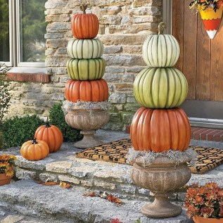 Excellent Diy Fall Pumpkin Topiary Ideas For Home Décor31
