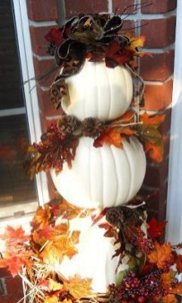 Excellent Diy Fall Pumpkin Topiary Ideas For Home Décor41