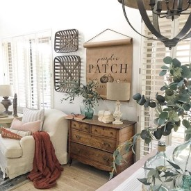 Stunning Fall Home Decor Ideas With Farmhouse Style40