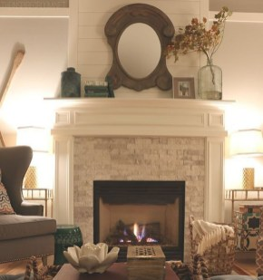 Wonderful Fireplace Makeover Ideas For Fall Home Décor07