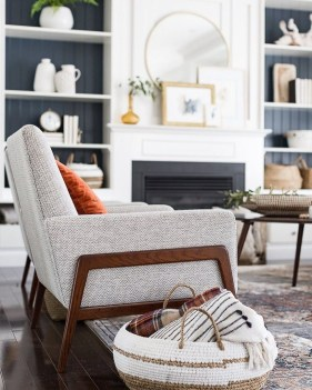 Wonderful Fireplace Makeover Ideas For Fall Home Décor21