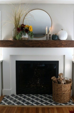 Wonderful Fireplace Makeover Ideas For Fall Home Décor43