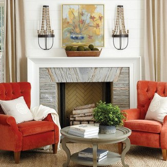 Wonderful Fireplace Makeover Ideas For Fall Home Décor45