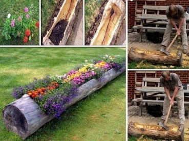 Attractive Diy Logs Ideas For Summer Garden To Try Right Now03