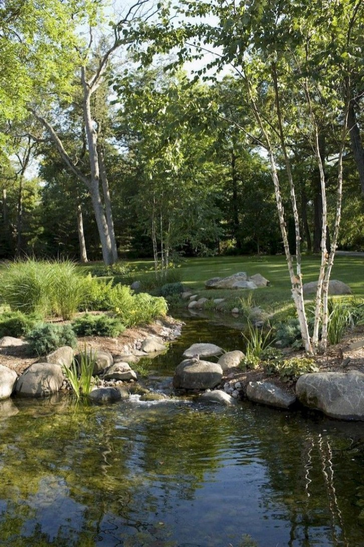 Casual Backyard Ponds Design Ideas For Garden To Try Asap33
