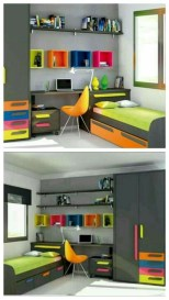Modern Small Bedroom Design Ideas That Are Look Stylishly Space Saving34