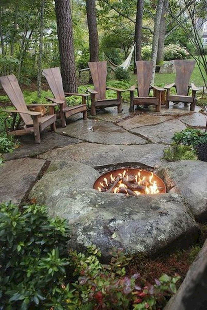 Superb Diy Fire Pit Ideas To Try In The Backyard35