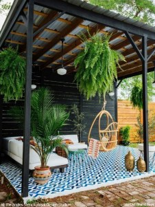 Unusual Painted Rug Design Ideas For Relaxing Screened Porch03