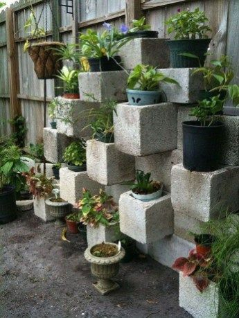 Latest Home Garden Design Ideas With Cinder Block To Try26