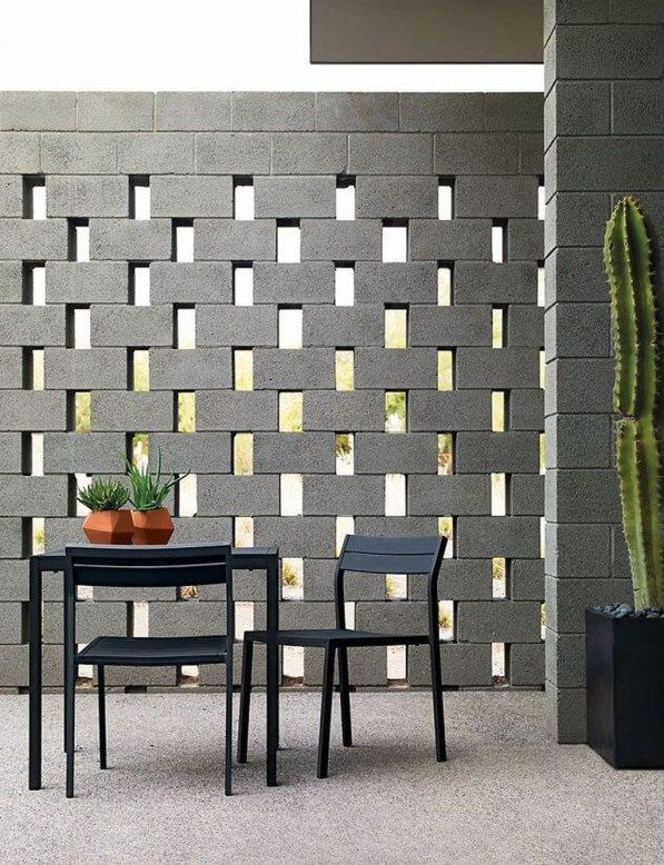 Latest Home Garden Design Ideas With Cinder Block To Try32