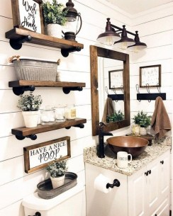 Trendy Farmhouse Bathroom Design Ideas To Try Right Now21