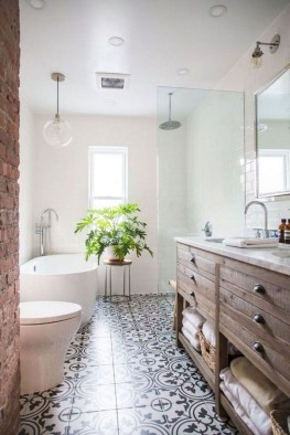Trendy Farmhouse Bathroom Design Ideas To Try Right Now27