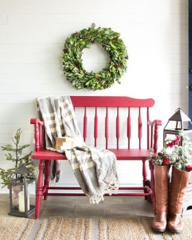 Unordinary Farmhouse Christmas Entryway Design Ideas For The Amazing Looks25