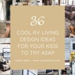 36 Cool Rv Living Design Ideas For Your Kids To Try Asap Cluedecor