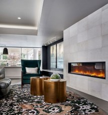 Awesome Winter Home Decoration Design Ideas With Unique Fireplace12