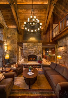 Awesome Winter Home Decoration Design Ideas With Unique Fireplace24